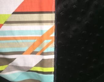 Crazy Stripe minky baby blanket