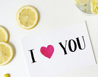 i love you card | i heart you card | anniversary card | love card | boyfriend card | girlfriend card