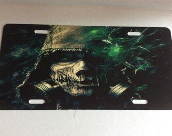 Scarecrow Sublimation License Plate Tag