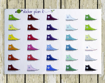 Sneakers Planner Stickers!!!! Set of 30, Perfect for the Erin Condren or Plum Paper Planner!