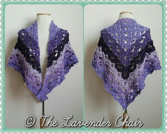 Mirrored Gemstone Lace Shawl Crochet Pattern *PDF FILE ONLY* Instant Download