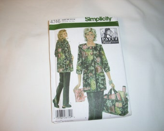 Misses hobby coat pants and bag  SZ XS S M  Simplicity pattern # 4746  by Patty Reed   and  is uncut