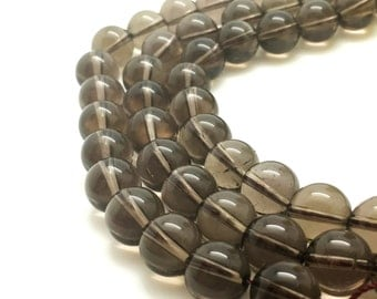 6mm Natural Smoked Quartz Beads Round 6mm Smoked Quartz 6mm Smoky Beads 6mm Smoky Quartz 6mm Smokey Quartz 6mm Beads 6mm Smoky Quartz Beads