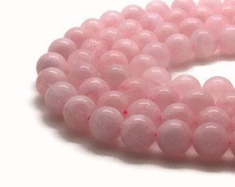 8mm Natural Rose Quartz Beads Round 8mm Rose Quartz 8mm Quartz Rose Beads Quartz Rose 8mm Quartz Beads 8mm Pink Beads 8mm Pink Beads
