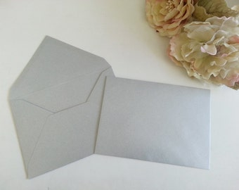 5 x 7 envelopes - Premium 120gsm Metallic Silver 13cm by 18cm Grey Pure Invites 5 inch by 7 inch envelopes Close to A7 envelopes