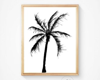 Beach Art, Palm Tree Wall Art, Palm Print, Palm Tree Art, Summer Part 62