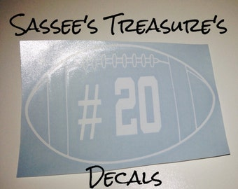 Football Car Decal Etsy - Football custom vinyl decals for cars