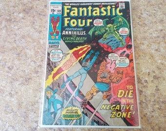Vintage #109 Fantastic Four Comic  April 1961