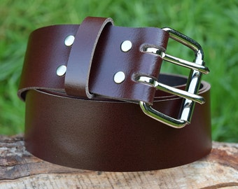 Cristopher Handmade Brown Leather Belt