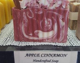 Apple Cinnamon Soap made with organinc oils