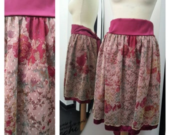 Fantasy tulle ruffle skirt and cyclamen