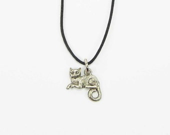 Cat Jewelry Necklace - Cat Necklace - Cat Lover Gift - Cat Rescue - Cat Charm Necklace - Cat Gift - Cat Charm  - Kitty Charm - Plus Size