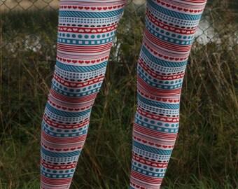 Screen printed leggings