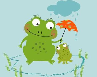 Froggy day rain