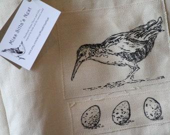 Hemp Shopping Tote, Bird Tote Bag, Hemp Tote, Virginia Rail Tote Bag