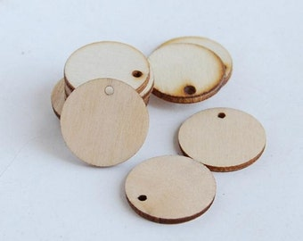 25mm No Varnish And No Lacquer Wood Pendants Round Charm Pendants WB4216