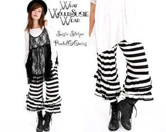 Black and White Striped PantalOOnie Bloomer Pants