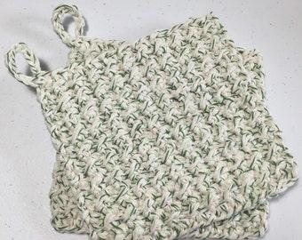 Cotton Crocheted Hot Pad / Pot Holder / Trivet