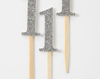 One Cupcake Topper, First Birthday Cupcake Topper