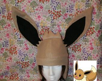 Eevee Pokemon fleece Hat-Adult/Kids size-Great geeky gift-Fandom-Halloween