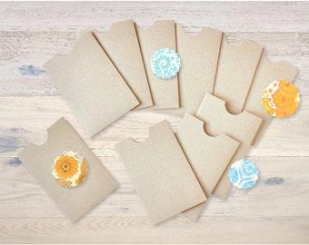 10 sliding covers handmade kraft paper