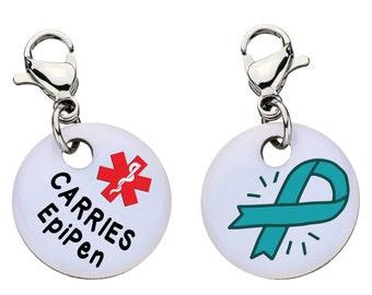 Carries Epi Medic Alert Bracelet Charm - Medical ID - Large - 100