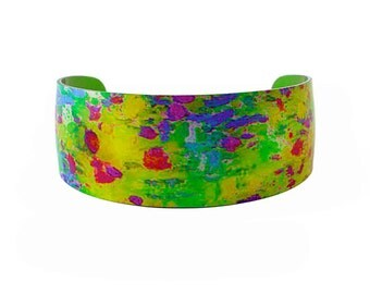 Water Lily Green Bangle/Cuff/Jewelry/Fashion Jewellery