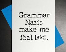 Grammar Nazi Card