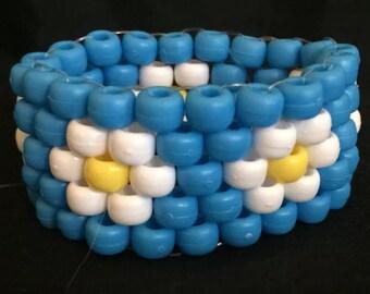 PLUR kandy rave neon cuff bracelet