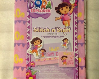SALE Dora the Explorer stitch n'stuff pillow kit