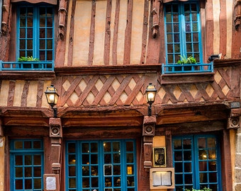 France Photography, Restaurant in Rennes, Brittany, Rural France, Architecture, Gallery Wall Art, Fine Art Print, French Restaurant