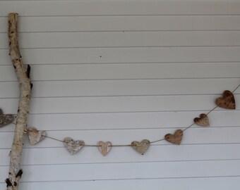 Birchbark Heart Garland