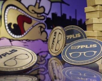 Coasters wood 7PLIS