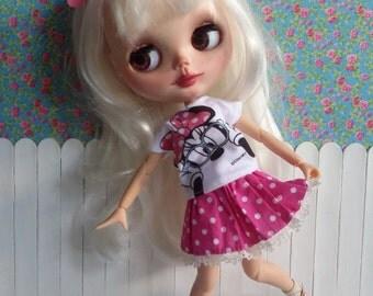 Set t-shirt and skirt for BLYTHE and Pure Neemo