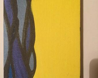 """Beach Summer Acrylic Painting 7"""" x 5"""""""