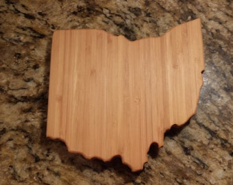 Small Bamboo Ohio Cutting Board