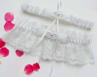 Wedding Garter, Bridal Garter Set, Ivory Lace Garter, Bridal Garter Set - Ivory Lace Garter, Ivory Wedding Garter Belt 310