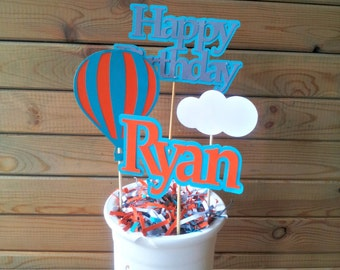 Hot Air Balloon Centerpieces - up up away party - personalized - party supplies - table decorations