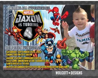 Personalized Superhero Birthday Invitation, Superhero Birthday Party, Superhero Invite, Superhero Birthday Invitation, Photo Invitation