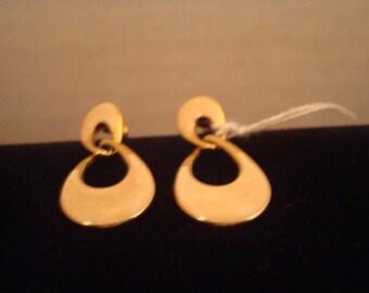 Vintage enamel pierced earrings