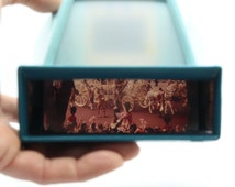 Hanimex Panorama '3D' Slide Viewer plus a set of three Silver Jubilee slides – Vintage and fully working – VGC - Made in England