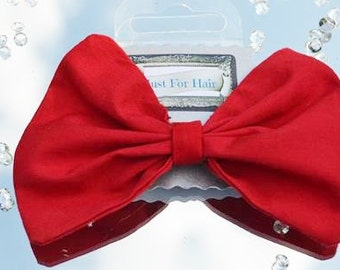 red hair bow, red hair clip, red hair accessories, hair clips for women, hair bows fabric, hair clips women, birthday gifts for girls, fb6