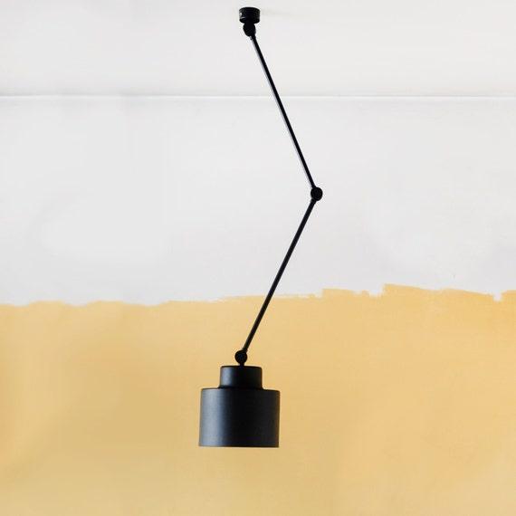 bewegliche deckenleuchte lampe mit flexiblen armen metall. Black Bedroom Furniture Sets. Home Design Ideas