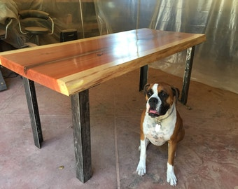 Live Edge Dining Room Table by Dog and Pig Furniture
