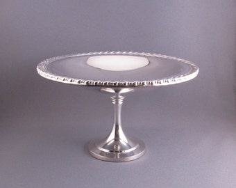 Vintage Silver Plate Pedestal Candy Dish or Compote Oneida Silversmiths
