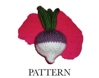 Knitted Turnip Knitting Pattern PDF | Amigurumi Vegetable | Play Food Turnip