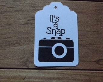 It's snap camera party tags photo tags,party favor tags,camera tags 20 tags per set.