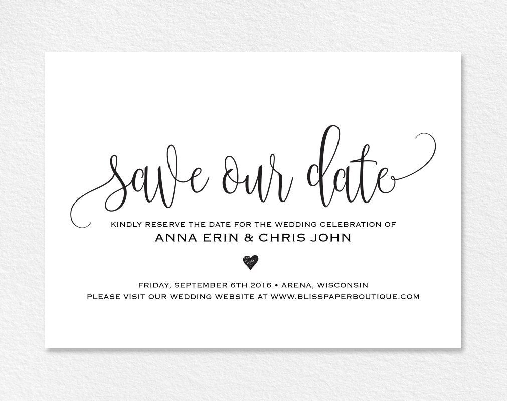 Save The Date Template Save Our Date Card Save The Date