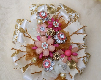 Pink and Gold Corsage