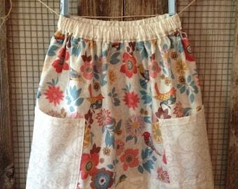 Floral Bird Skirt